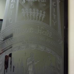 Radio City etched mirror of Frank Sinatra