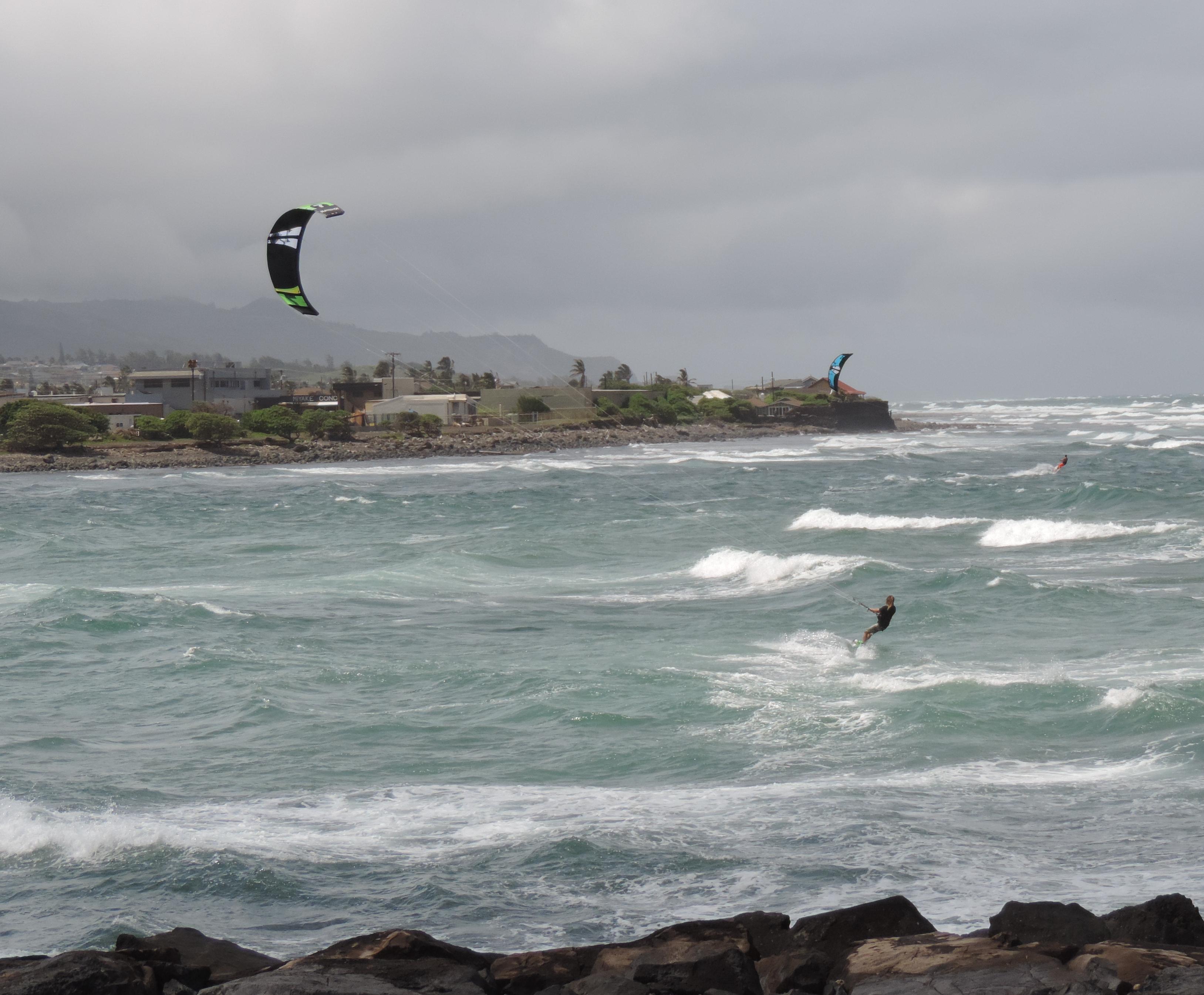 Windsurfers Maui