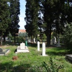 graves in what was a park in a residential area